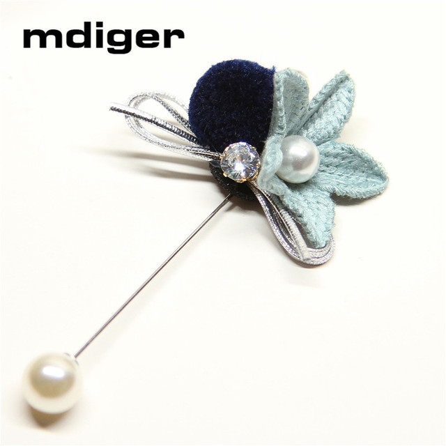 Mdiger Women Men Handmade Flower Design Brooch Hot Lapel Pin Suit Button  Stick Brooches Wedding Party e4873968994b