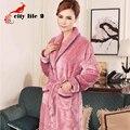 Robe Longue Cintos Femininos Outono E Inverno do Velo Coral Espessamento Inverno Sleepwear Flanela Plus Size Roupões de Banho das Mulheres