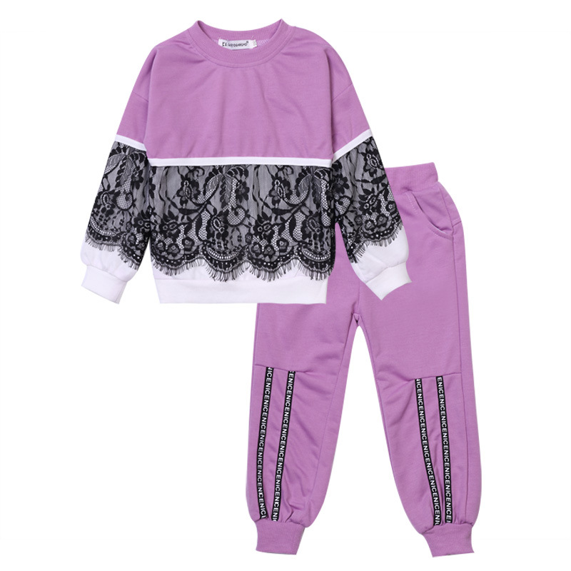 cute kids hoodie set lace sport soft cotton sweatshirt tops pants set for 2-8years children boys girls outerwear clothing setcute kids hoodie set lace sport soft cotton sweatshirt tops pants set for 2-8years children boys girls outerwear clothing set
