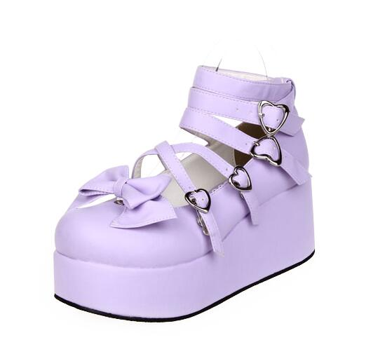 Angelic imprint handmade new woman mori girl lolita cosplay shoes lady high trifle heels pumps women princess dress party shoes-in Women's Pumps from Shoes    3