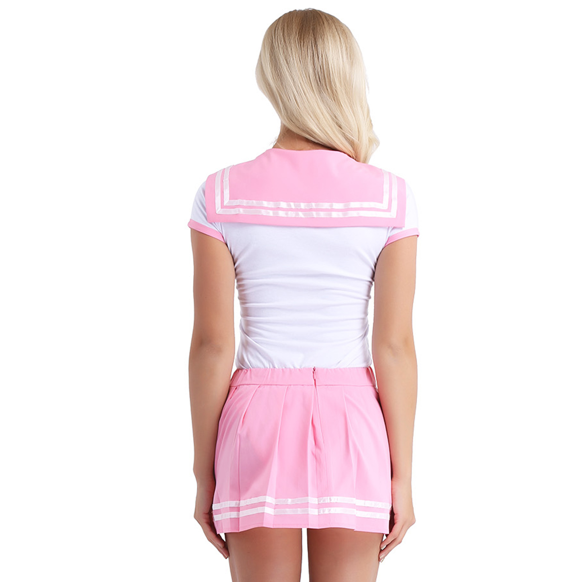 Image 4 - iiniim Women Adult Babies Clothing Open Crotch School Girls Sexy Romper with Mini Pleated Skirt Cosplay Costumes Party ClubwearSexy Costumes   -