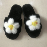 2018 New Mink Slippers Soft Plush Winter Warm Slippers Furry Slippers Shoes #29