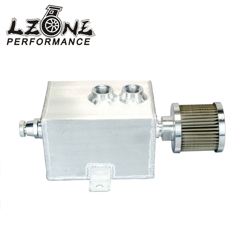 Prix pour LZONE RACING-1L Aluminium oil catch tank can avec reniflard et robinet de vidange 1LT dérouté JR9491