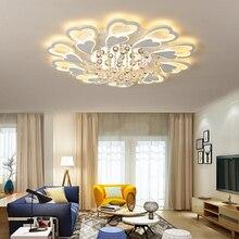 Modern led ceiling light crystal lights for living room dining room bedroom Indoor decorative dimmable kitchen ceiling lamp все цены