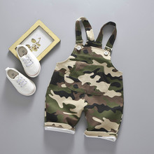 Camouflage Overalls Baby Boys Girls Roupas 2019 Summer Infants Childrens Clothing Cotton Shorts Pantalones Kids Clothes