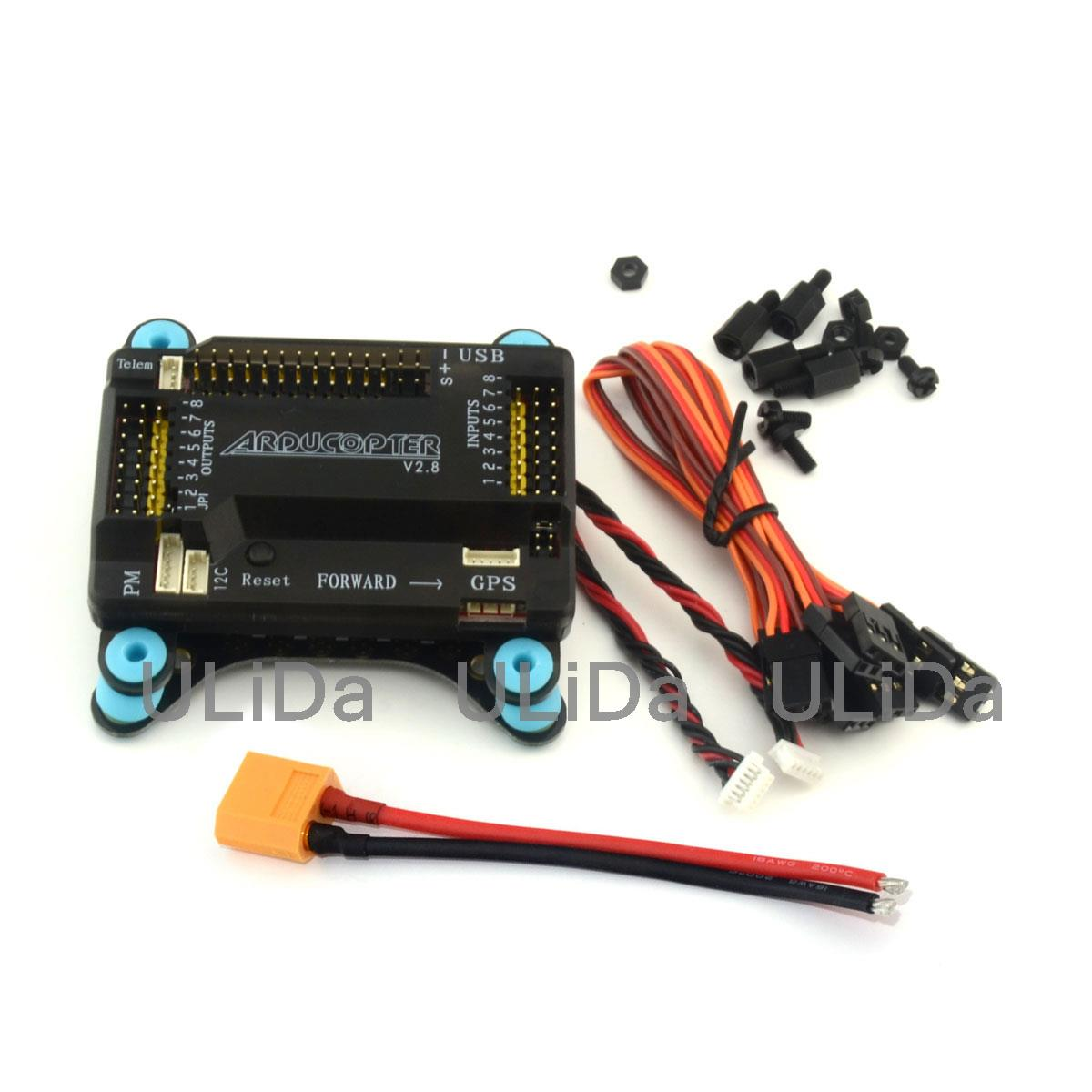 5in1 APM 2.8 Flight Controller /w Shock Absorber Integrate Power LED ESC 5V 12V BEC Distribution Board for Quadcopter 2017 special offer rushed esc value 2 hsp fpv tamiya fiber flight controller anti vibration set shock absorber apm kk mwc