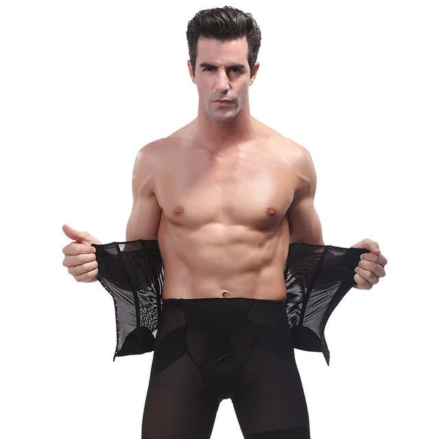 9e0ffa2b28cc 2016 Men Waist Cincher Trainer Super Stretch Hot Body Belly Waist Shaper  Tummy Trimmer Belt Control