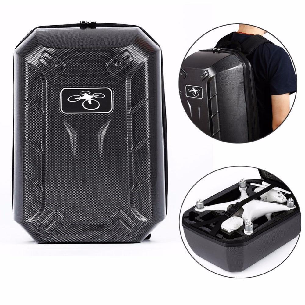 THINKTHENDO Black ABS Shell Hard Backpack Case Bag for DJI Phantom 4 RC Quadcopter