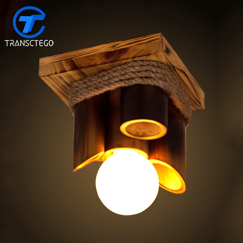 Ceiling lights Lamps American Country Retro Creative Bamboo hanging lamp Corridor Balcony light vintage ceiling lamps american style copper lamps ceiling light personality simple country balcony lamp home lighting corridor