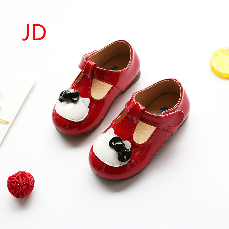 JIANDIAN Childrens Bright Color Shoes Baby Girl Doug Shoes Casual Shoes Children Soft Bottom Shoes