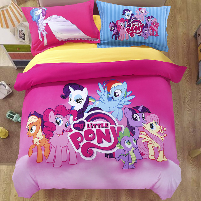 Little Pony Horse Fitted Or Flat Bedsheet Bedspread Quilt Cover Bedding Set  Duvet Cover