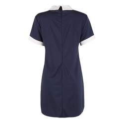 Summer Casual Women Solid Turn-down Collar Dress Short Sleeve Loose Sweet Mini Vestidos for Lady 4