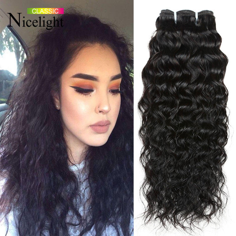 Nicelight hair 7a unprocessed virgin mongolian hair water wave nicelight hair 7a unprocessed virgin mongolian hair water wave bohemian human hair weave natural curls wet and wavy human hair in hair weaves from hair pmusecretfo Choice Image