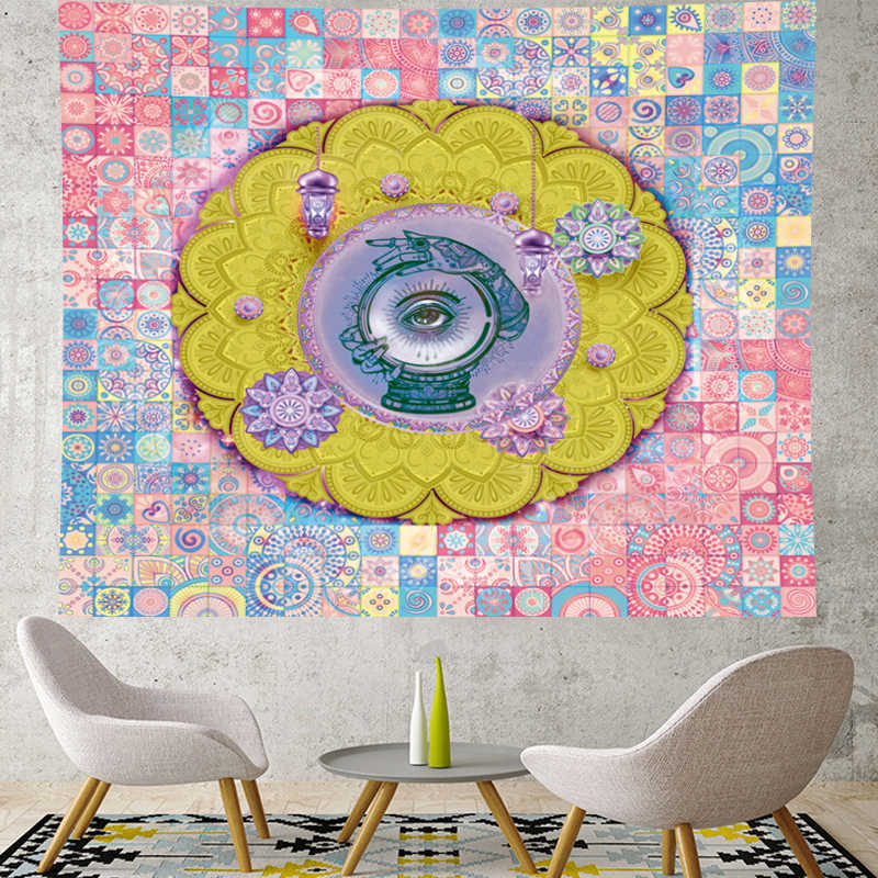 มุมตาอินเดีย mandala tapestry แขวนผนังฮิปปี้ผนังผ้าเช็ดตัวบุคลิกภาพฮิปปี้ Home Decor bohemian Beach Home Decor
