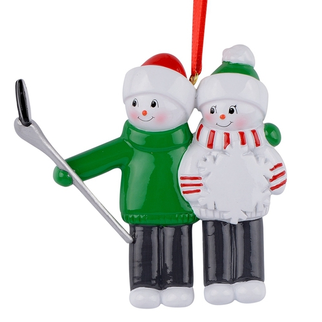 US $11 49 |Resin Snowman Family Shovel Family Of 2 Christmas Ornaments  Personalized Gifts Write Own Name For Holiday or Home Decor-in Pendant &  Drop