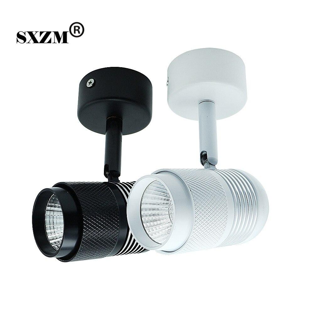 SXZM 10W led lamp AC85-265V spot light COB downlight Surface mounted white or black body ...