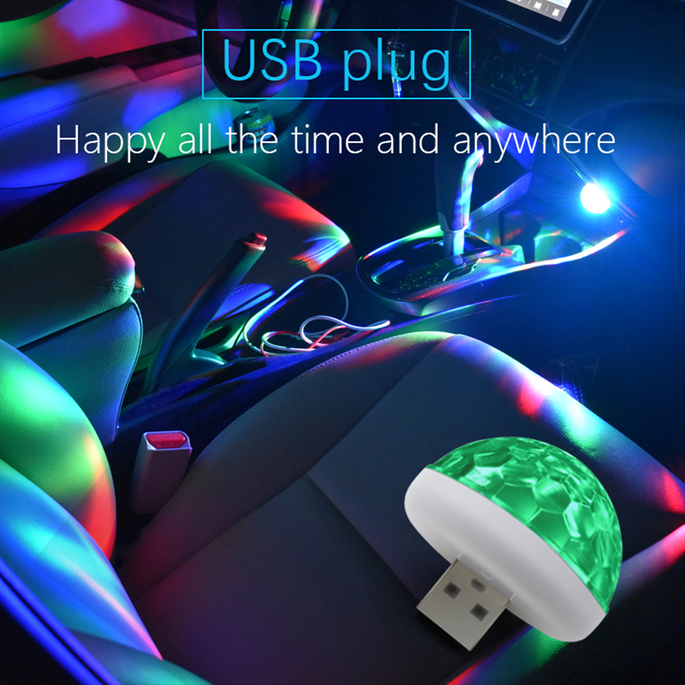 2PCS Party Car Interior DJ Neon lights Music Rhythm Lamp Cars Interior Light USB Blue Red Green RGB Sound LED Light for Auto pink colors 70 16cm flash car sticker music rhythm led el sheet light lamp sound music activated equalizer