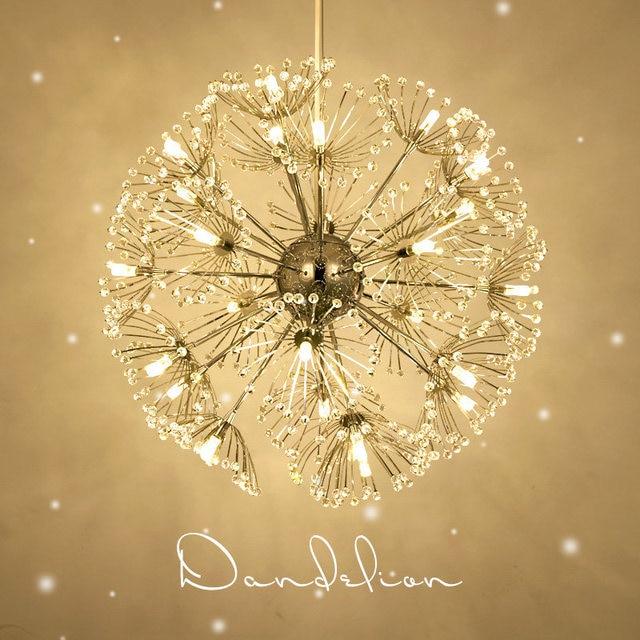 Led crystal ball pendant light modern dandelion dining room led crystal ball pendant light modern dandelion dining room restaurant design lamp home decor chrome fixture aloadofball Choice Image