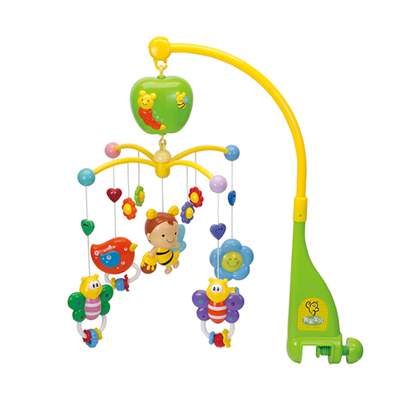 Nouveau jouet de berceau en plastique rotatif pour enfants Musical Mobile Multinational lit musical cloche bébé jouets bébé hochet tournant avec des animaux