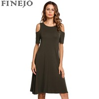 FINEJO Dress Women Black Sexy Off Shoulder Party Dresses 2017 New Ruffle Elegant Bodycon Mini Dress