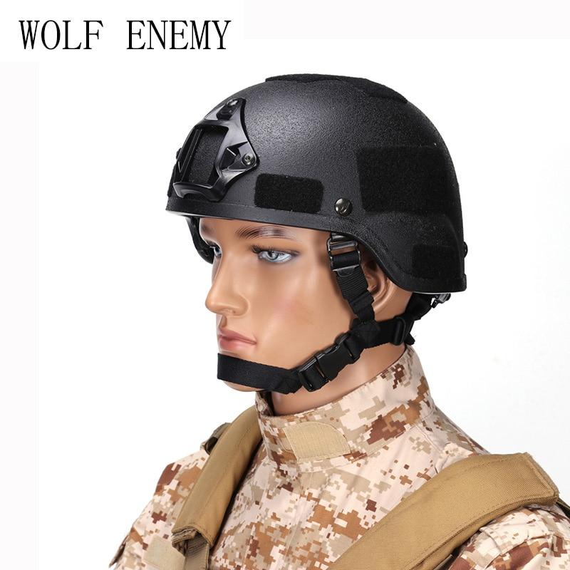 MICH 2000 Tactical Military Army Pistol with Frame Helmet CS Equitment Helmet Military Combat Helmet