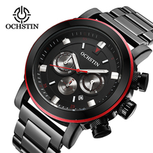 OCHSTIN Mens Business Watches Top Brand Luxury Waterproof Chronograph Watch Man Steel Sport Quartz Wrist Watch Men Clock Male