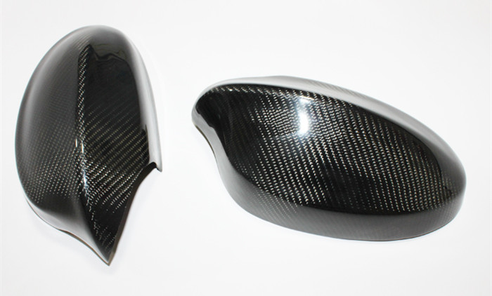 2 pièces porte latérale en Fiber de carbone décoration extérieure 3D autocollant Style rétroviseur couverture pour BMW série 3 E90 2005-2008