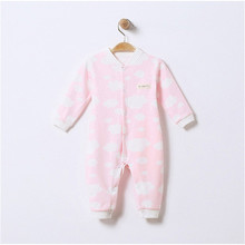 One-Piece Jumpsuits Buttons-Up Soild 100% Cotton Short-Sleeves Solid Color Cute Coveralls 3-12 Months