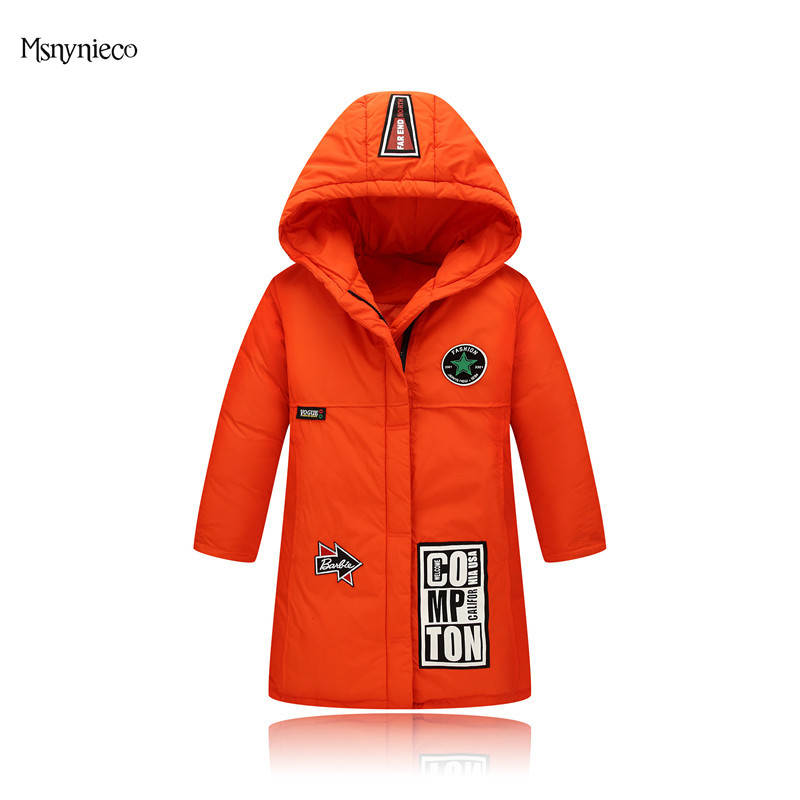 Girls Winter Cotton-padded Coats 2017 Casual Children Winter Jackets Kids Warm Outerwear Print Hooded Clothes Baby Girl Clothing children winter coats jacket baby boys warm outerwear thickening outdoors kids snow proof coat parkas cotton padded clothes