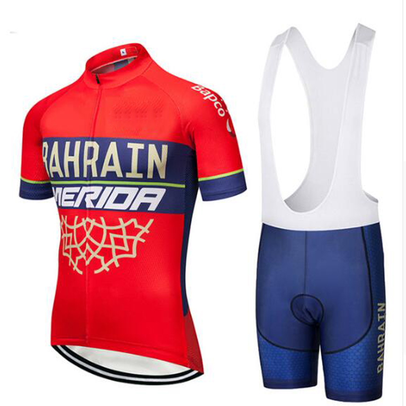 2018 Red MERIDA TEAM Bicycle Shirt Pro Maillo Riding Cycling Jersey Clothes BICYCLING Maillot Culotte Gel Breacthable Pad