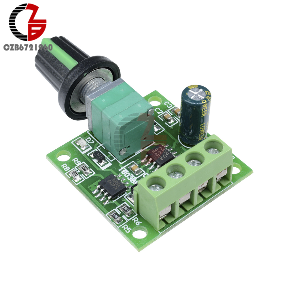 5 Mini DC 2A Motor PWM Speed Controller 1.8V-15V Speed Control Switch LED Dimmer