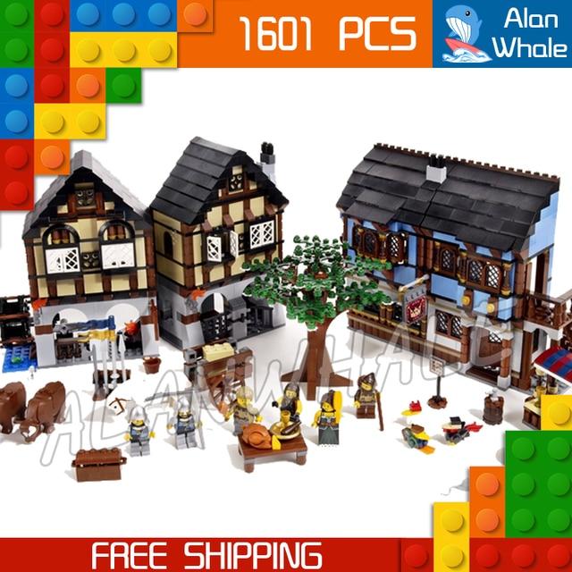1601pcs Castle Series Medieval Market Village 16011 DIY Model ...