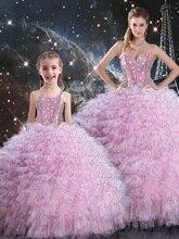 Девушки свадебные платья подиум Фортепиано производительность платье мода Parental платье Мать и дочь набор костюмы платье принцессы
