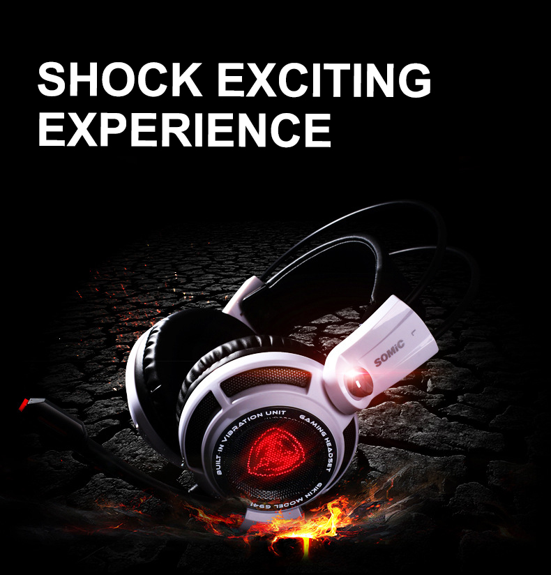Original G941 USB 7.1 Surround Sound Gaming Headset Stereo Gamer Headphone With Mic LED Light For Laptop Tablet/PS4 /Phones