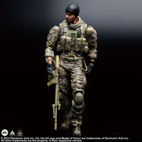 Medal of Honor Action Figure Play Arts Kai Tom Preacher Anime Game Medal of Honor Model Toys 250MM Playarts