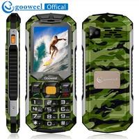 Gooweel GW2000 Cellphone Phone 1800mAh Long Standby Power Bank Dual Sim Card Flashlight FM Radio Bluetooth
