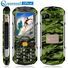Gooweel gw2000 телефон 1800 мАч долгого ожидания Мощность Банк dual sim карты фонарик FM радио Bluetooth открыл мобильный телефон