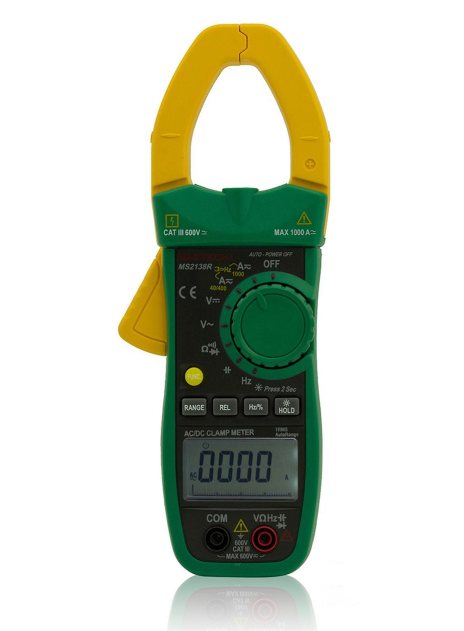 MASTECH MS2138R 4000 Counts Digital AC DC Clamp Meter Multimeter Voltage Current Capacitance Resistance Tester mastech ms2138 digital 1000a ac dc clamp meter multimeter electrical current 4000 counts voltage tester with high performance