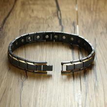 Модные браслеты с магнитами из нержавеющей стали rolo классические