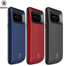 BASEUS Батарея Зарядное устройство чехол для Samsung Galaxy S8 5000 мАч Резервное копирование Внешняя Батарея пакет Портативный Мощность банка для S8 плюс 5500 мАч