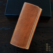 OLG.YAT handmade women wallets Italian Vegetable tanned leather wallet men purse womens handbag genuine Choi cloth retro bag