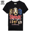 2015 Fashion Newest style Many Designs Silk sreen 100% cotton round neck Printing Rock band slipknot mens t shirts
