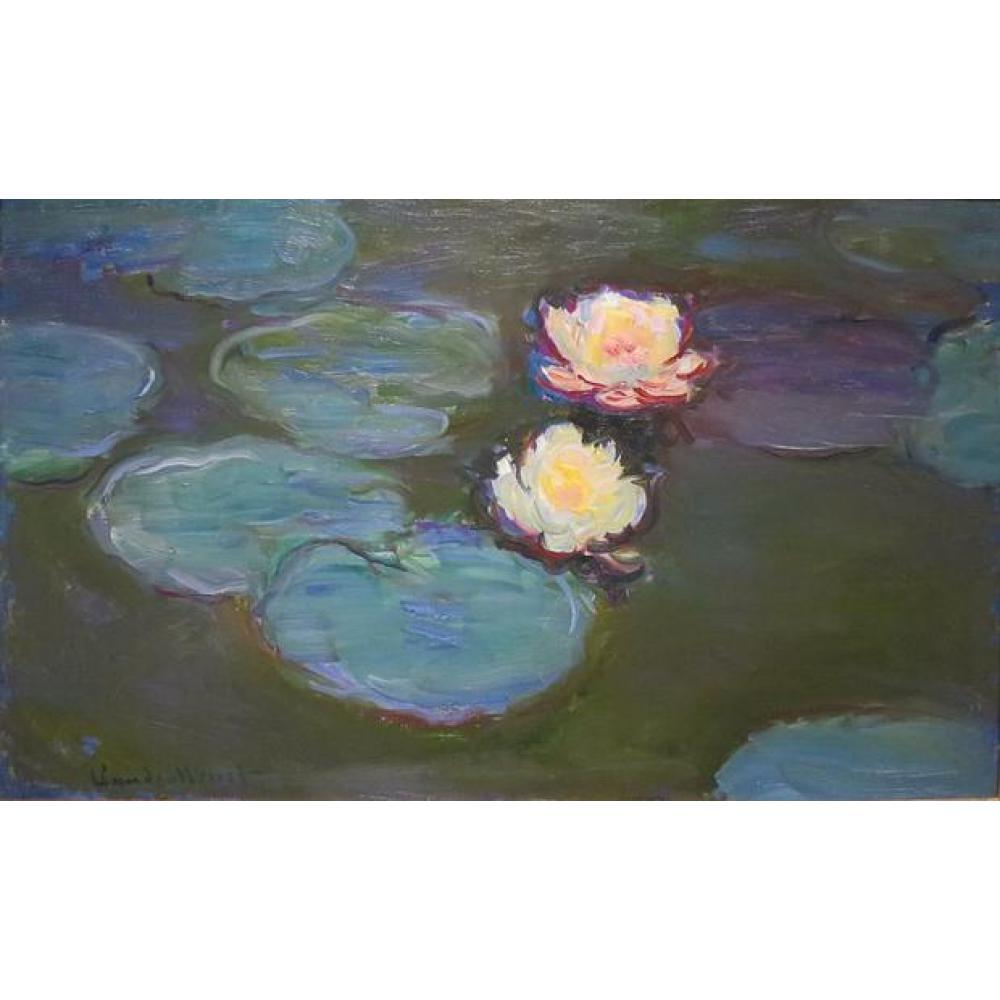 Peinture à l'huile à la main reproduction de Claude Monet haute qualité Nympheas Effet du Soir salon décor