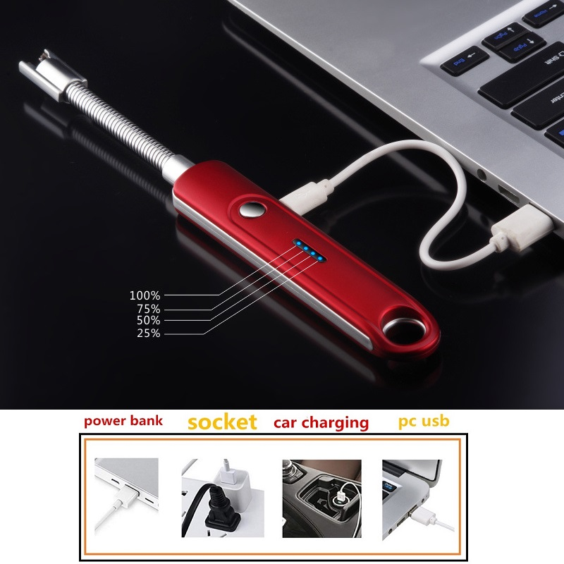 USB BBQ  Rechargeable Style lighter Kitchen Stove Candle Electric Single ARC 25