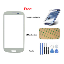 Free gift of S3 screen protector white glass for Samsung Galaxy S3 I9300  I747 L710  touch screen glass replacement hot sale