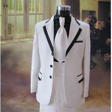 2015 male costume fashion costume 99 men's clothing formal dress white suits clothes costume male choral service for singer show