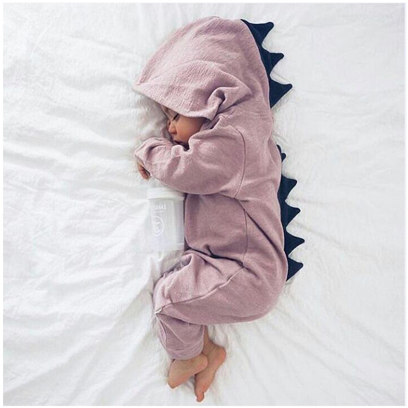 2018 Jumpsuit Baby Boy Clothes Newborn Romper Baby Dinosaurs Costume Thin Cotton Infant Hooded cute Long Sleeve Clothing spring newborn infant baby girls boys rompers long sleeve cotton casual romper jumpsuit baby boy girl outfit costume