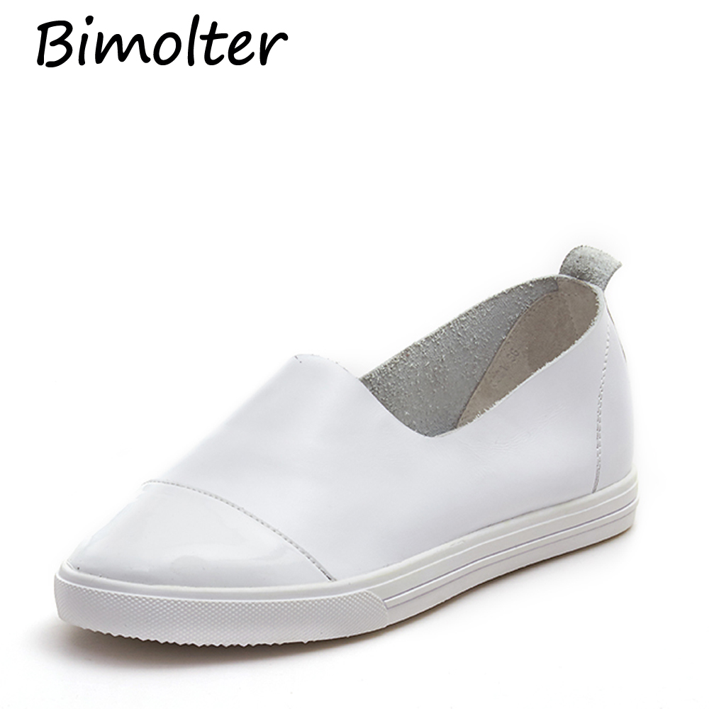 Bimolter Simple Styles Fashion Casual Loafers Super Soft Asli Sepatu - Sepatu Wanita - Foto 5