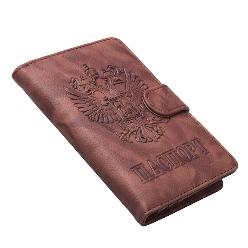 Swdvogan New Russian Passport Cover Women Men Passport Holder Travel Covers for Passport hasp passport case card holder Wallets