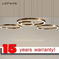 LOFAHS Modern LED Chandelier Luxury Large Combination Circle For Living Room Led Lamp Hanging Fixtures Ring